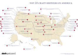 Wisconsin Breweries Map by Made In The Usa December 2012