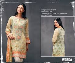 latest fall winter dresses new collection 2017 by warda
