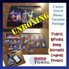 Family Packages 2016 The Fulltime Family Unboxing Costco Travel Disney Vacation Package