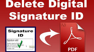 pdf tutorial how to delete digital signature id from pdf by using