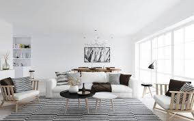 interior classy white scandinavian living room decor with