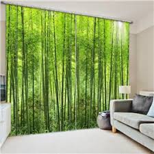 Green Color Curtains 3d Scenery Curtains U0026 Beach Scene Curtains Beddinginn Com