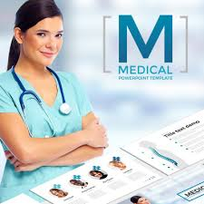 medical powerpoint template 65790