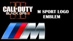 bmw logos bmw m sport logo call of duty black ops 3 emblem editor youtube