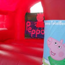 peppa pig bouncy castle hire slide