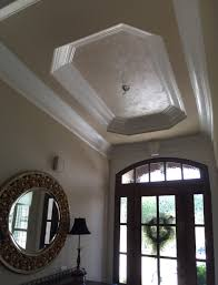 feathered tray ceiling in an entryway sherwin williams duration