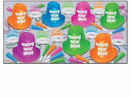 new years party kits multi colored new year s party kits