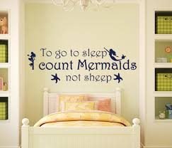 wall decals stickers home decor home furniture diy to go to sleep quote decal mermaids wall decals nursery vinyl sticker decor t19