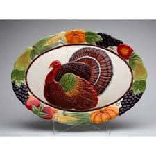 ceramic turkey platter large turkey platter wayfair