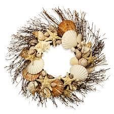 seashell wreath shell wreath bed bath beyond