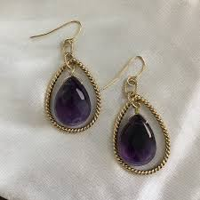 purple drop earrings kendra vintage kendra purple drop earrings from