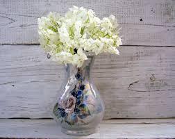 Porcelain Flower Vases Vintage Vases Etsy