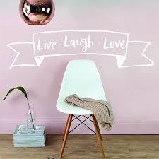 live laugh love banner wall sticker parkins interiors live laugh love banner wall sticker