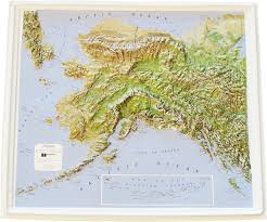Maps Alaska by Relief Maps Flagline
