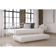 Where To Buy Sofa Bed In Manila Dhp Manila Full Daybed And Twin Trundle White Walmart Com