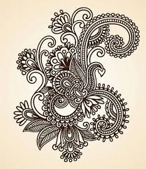 11189142 abstract henna mendie flowers doodle vector