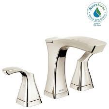 delta polished nickel bathroom faucets bath the home depot