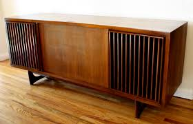 victrola record player cabinet mid century modern slatted stereo record player rca victrola
