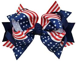 fourth of july hair bows usa 4th of july 5 inch loopy hair bow by girl