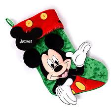 mickey mouse christmas stocking create a gift disney floral and