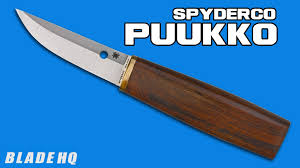spyderco puukko review youtube