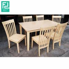 furniture direct talgo solid rubberwood 6 seater dining set