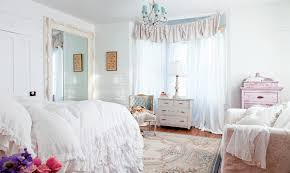 Shabby Chic Bedroom Design Ideas Sensational White Ruffled Curtains Shabby Chic Decorating Ideas