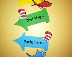 Thing One And Thing Two Party Decorations Dr Seuss Decor Etsy