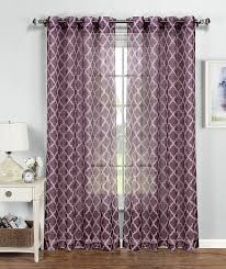 amazon com window elements quatrefoil printed sheer extra wide 54