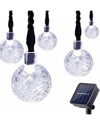 Solar Powered Christmas Tree Lights by Bargains On Lalapao Solar Powered Globe String Lights 30 Led 19 7