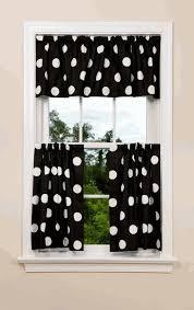 Black Polka Dot Curtains Oxygen Kitchen Curtains Black And White Pinterest Kitchen