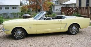 1965 yellow mustang springtime yellow 1965 ford mustang convertible mustangattitude