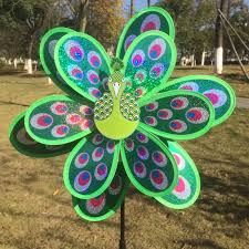 peacock windmill garden ornaments multicolor wind spinner