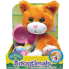 cabbage patch adoptimals 9 tabby with sound walmart
