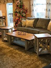 farmhouse coffee and end tables living room decor 731 woodworks we build custom furniture diy