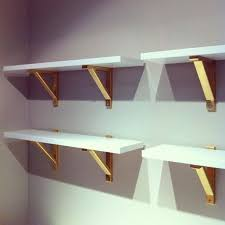Wooden Shelf Brackets Diy by Best 25 Gold Shelves Ideas On Pinterest Ikea Shelves