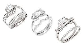 groupon wedding rings cubic zirconia ring sets groupon goods