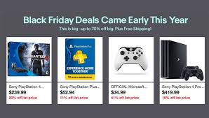 best ps4 bundle deals black friday sony ps4 uncharted 4 bundle black friday deal lights up on ebay