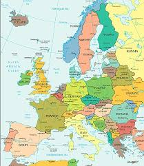 map to europe map showing europe major tourist attractions maps