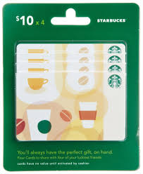 10 gift cards starbucks gift cards multipack of 4 10 gift cards