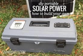 diy solar diy portable solar power livin lightly