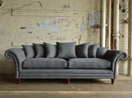 Scatter Back Sofa St Mawes Grey Wool Scatter Back Chesterfield Sofa Abode Sofas