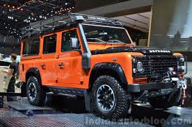 custom land rover discovery land rover defender adventure edition 2015 geneva live