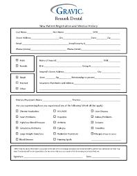 Patient Information Sheet Template Dental Patient History Form Remark Software