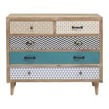 meuble commode chambre commode de chambre commode scandinave naturel motifs 5 tiroirs
