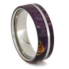 Wooden Wedding Rings by Box Elder Wood Wedding Band With Titanium Pinstripe 1658