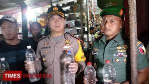 Sisir Indo gandeng kodim 0824 polres jember sisir toko penjual miras oplosan