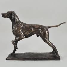 bronze pointer sculpture statue ornament by david geenty home