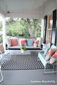 Outdoor Chevron Rug Feature Friday Southern Living Idea House In Senoia Ga Chevron