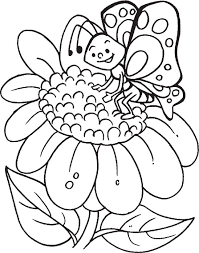 butterfly sunflower true friends sky coloring pages